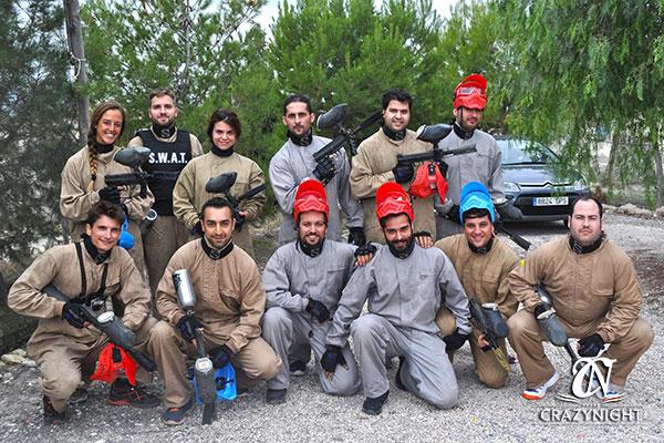 Paintball para grupos en Murcia